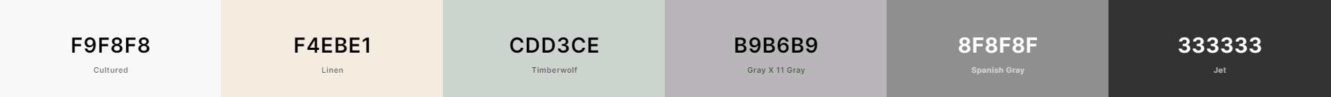 Paleta minimalista