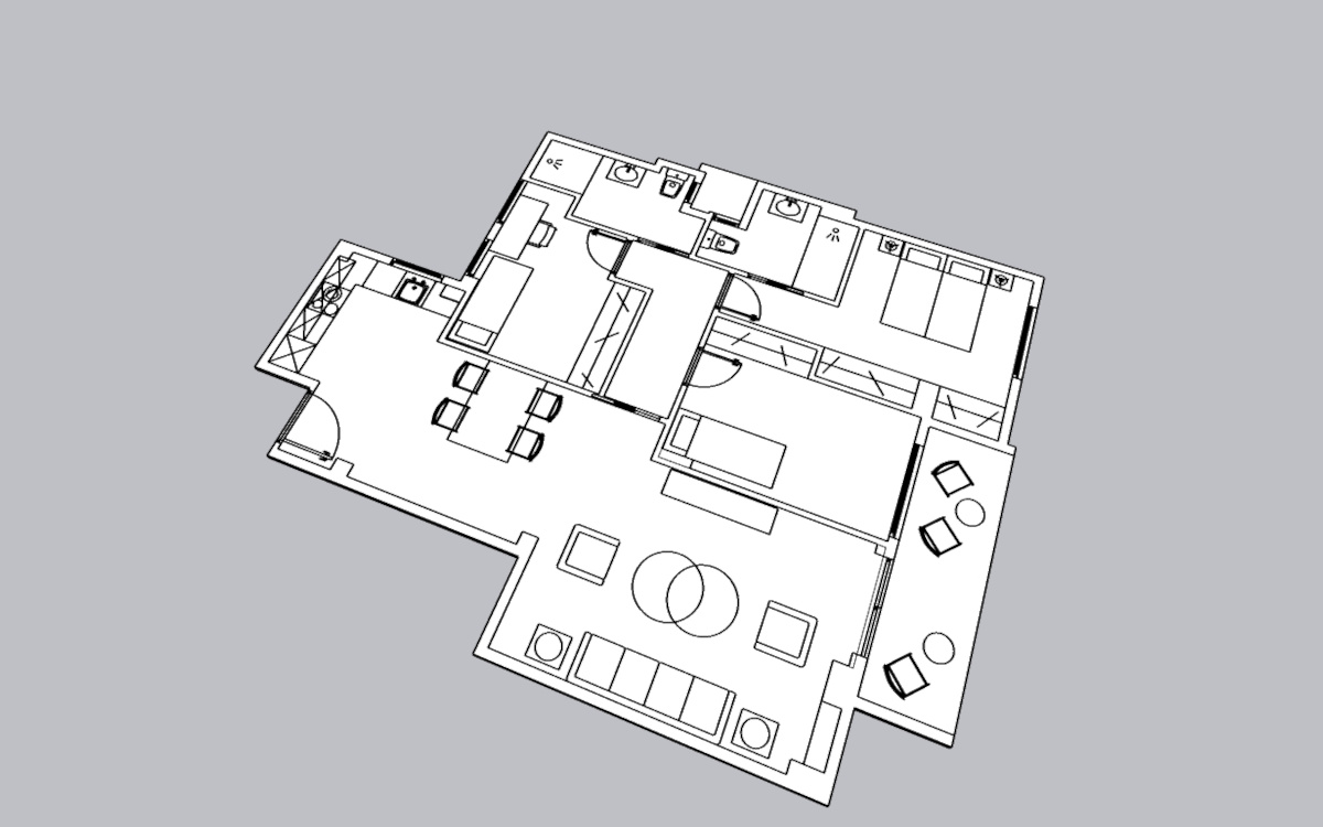 Proyecto de reforma virtual - Diseño 2D