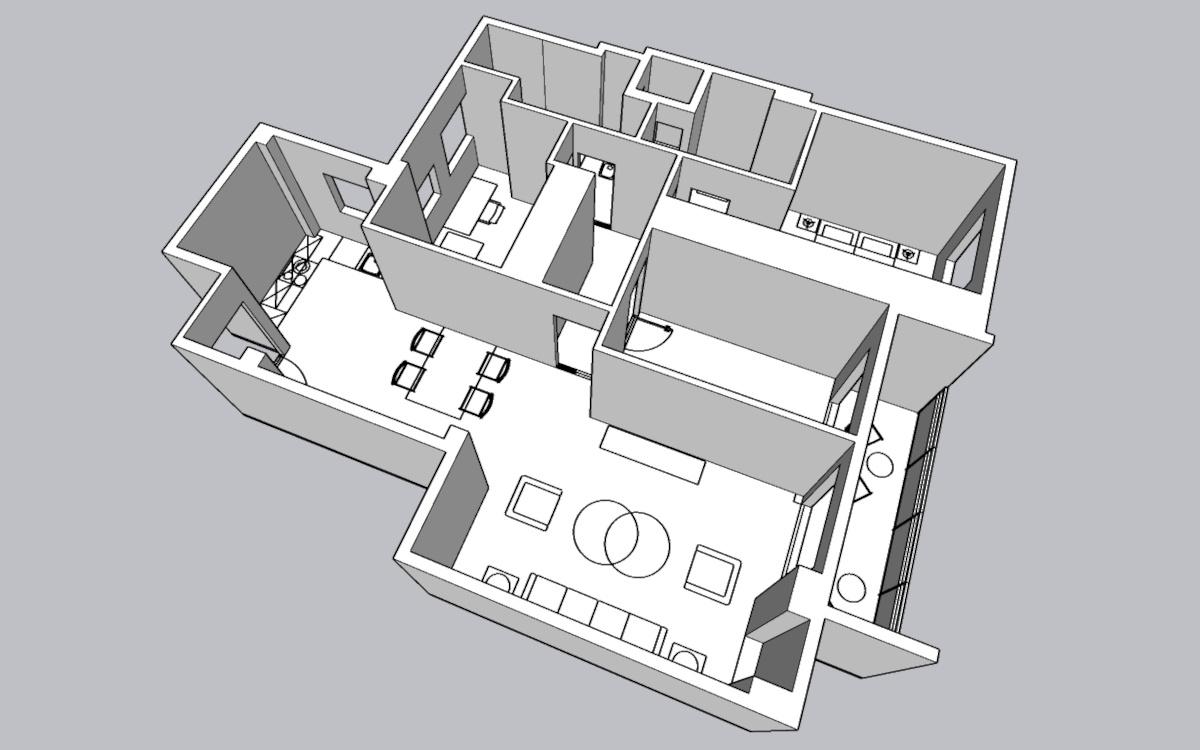 Proyecto de reforma virtual - Modelo 3D