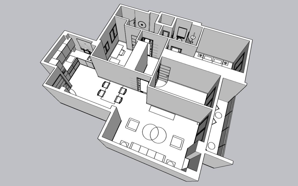 Proyecto de reforma virtual - Elementos 3D